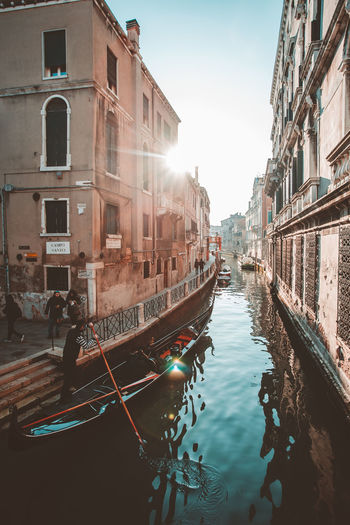 Architecture Building Building Exterior Built Structure Canal City Day Mode Of Transportation Moored Nature Nautical Vessel No People Outdoors Passenger Craft Reflection Residential District Sky Transportation Water Waterfront