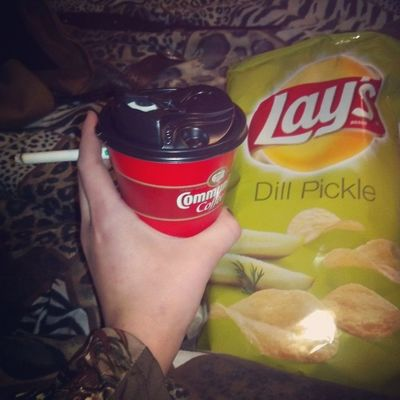 my favorite love my mom for getting me my favorite chips and french vanilla and and nxt cigarette (: Loveit Goodnight