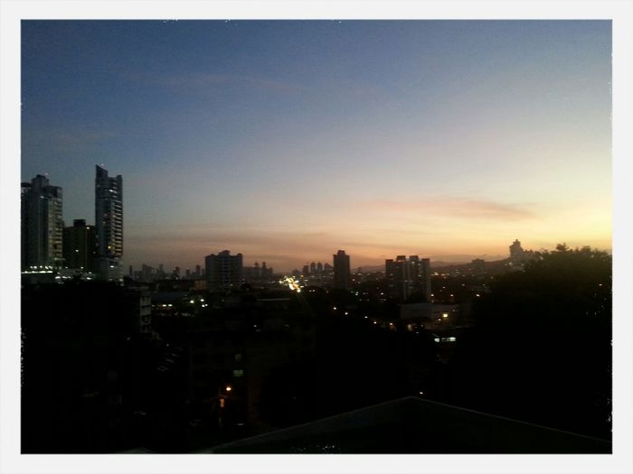 Sunset view from our balcony Panamá Samsung Galaxy S III