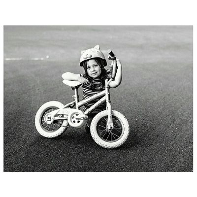 she named her Bike Arielle Portrait Streetphotography Neopan TheNettedPigeon ATX bikeatx