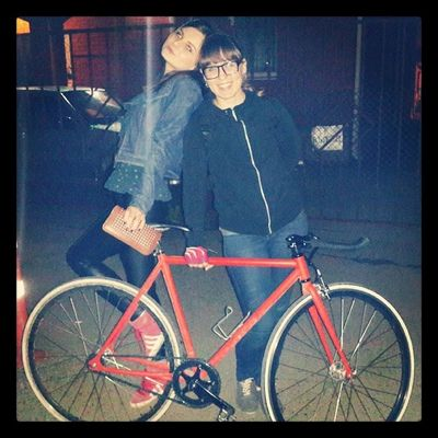 Русина приехала ) Girls Bike Meeting Nightwalk fixedgear