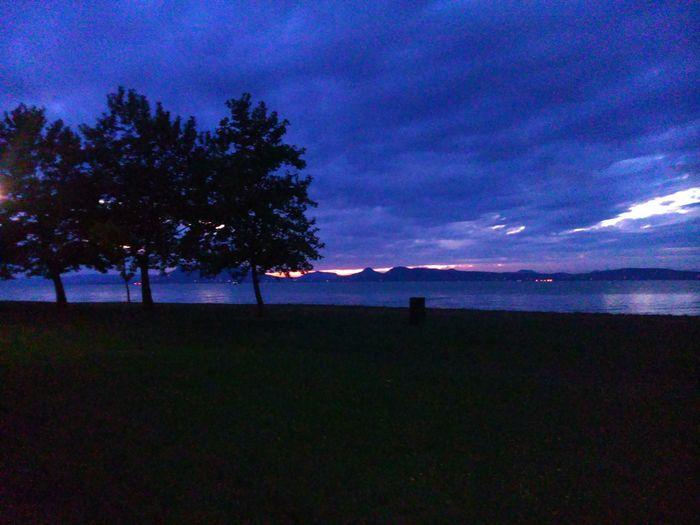 Night Lights Taking Photos Naturelovers Hungary Lake Balaton Fonyódliget Hello World