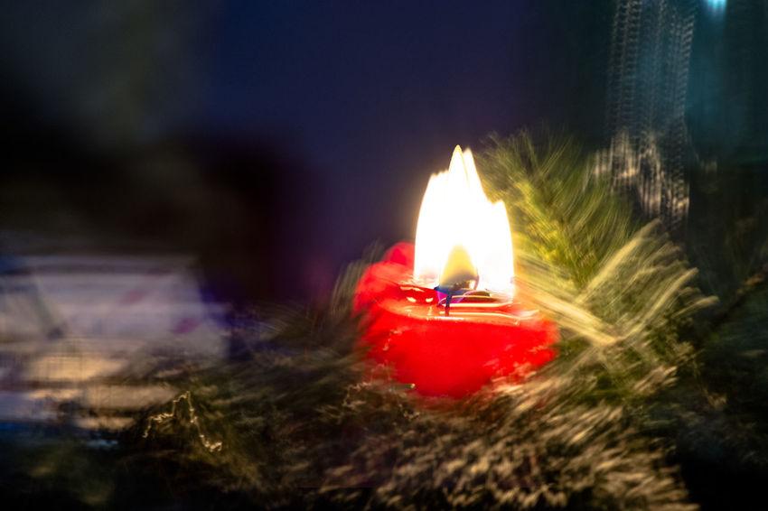 Xmas candle - melancholic Burning Candle Close-up Flame Illuminated Melancholic Night No People Lieblingsteil