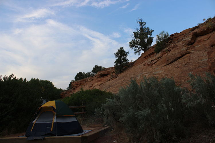 Camping Colour Your Horizn Hiking Trees Beauty In Nature Bushes Clouds Day Deer Creek Canyon Mountain Nature No People Outdoors Sky Skyscraper Tent Tree EyeEmNewHere