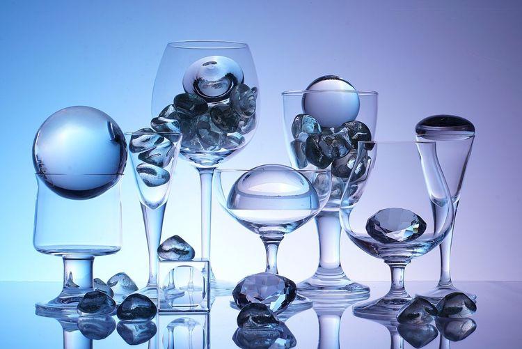 Diamonds In Drinking Glasses