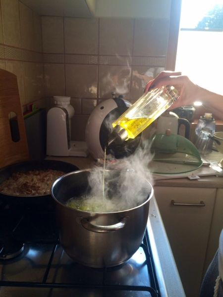 Cooking Domestic Kitchen Fresh Hot Inthekitchen Italian Food Olive Oil Pasta Time