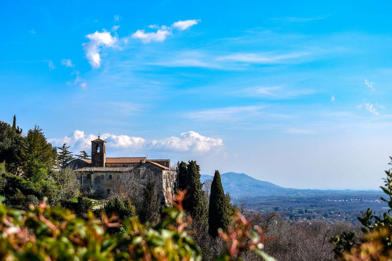 Piece of peace Palestrina Holy Church Nikonphotography Nikonphotographer NikonD3400 Nikon Sky Cloud Blue Sky View Mountain Cityscape Tree Blue Sky Architecture Landscape Cloud - Sky Building Exterior Historic Panoramic Old Ruin Civilization The Past