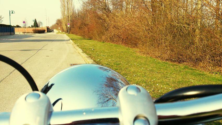 Motorrad Fahren März2015 Spiegelung Motorcycles Yamaha Drag Star Cruiser Motorrad Unterwegs Traveling