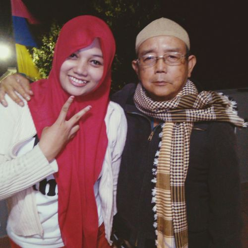 My sister & my father