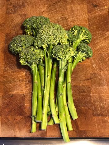 Broccoli View From Above Broccoli Long Stem Vegetable Food Food And Drink Green Color Healthy Eating Freshness High Angle View Raw Food Indoors