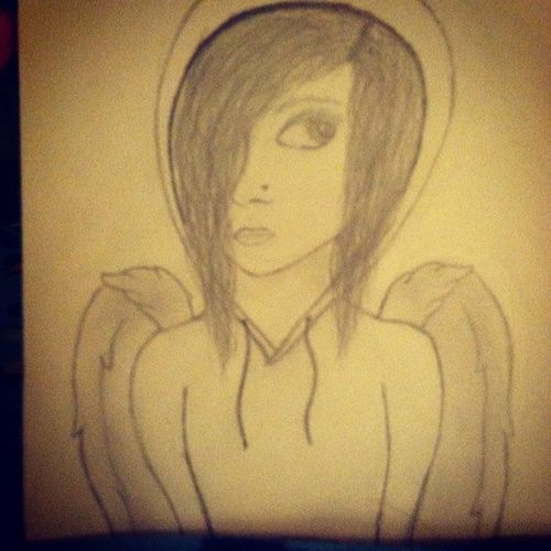 """I'm Not Just An Angel But A Fallen Angel With No Way Back Up And So Lost On This Strange World Called """"Earth"""" Drawing Art Fallenangel Nowayback Lost"""