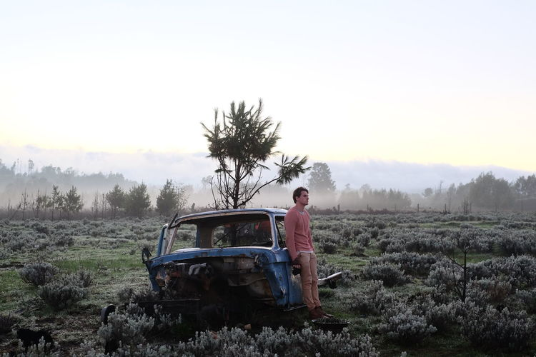 Misty morning missions in the Misty Hills of Nyanga, Zimbabwe. Abandoned Damaged Deterioration Field Grass Landscape Mode Of Transport Nature Non-urban Scene Obsolete Run-down Tranquil Scene Tranquility Transportation Tree