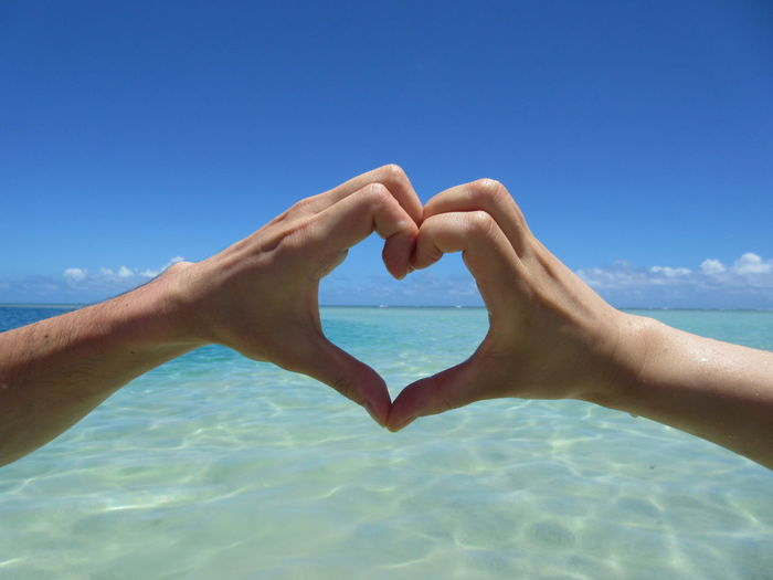 Blue Heart ❤ Honeymoon Love Sea Sky Vacations Water