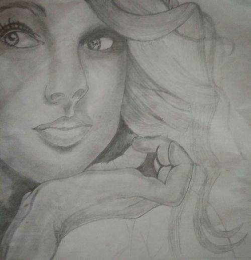 Human Body Part Human Face Adult One Person Close-up One Woman Only People Adults Only Beauty Portrait Only Women Indoors  Day Young Adult Sketch Pencil Drawing Pencil Colour Pencil Holder Pencilshavings PencilSkirt Pencil And Paper Pencil Case Pencil Crayons Pencil Sharpener Pencil Portrait