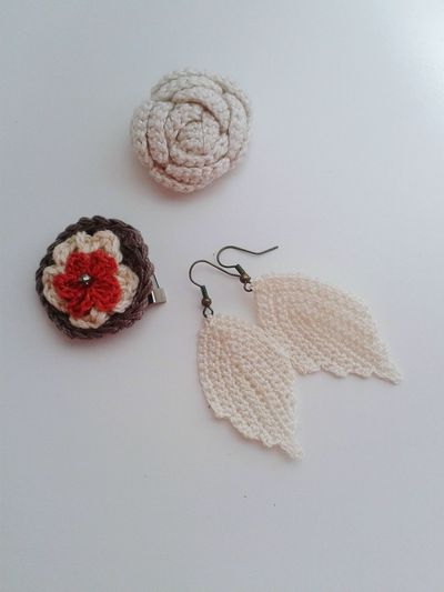 Accesorios Ganchillo DIY Handmade Creativity Crocheting Is My Hobby Crochetlove Crochet Crocheting Broche Pendientes Wool No People Indoors  Close-up Day