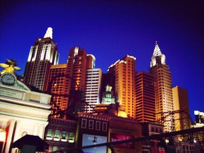Night Lights Skyline Sky Hotel Las Vegas Nevada New York New York