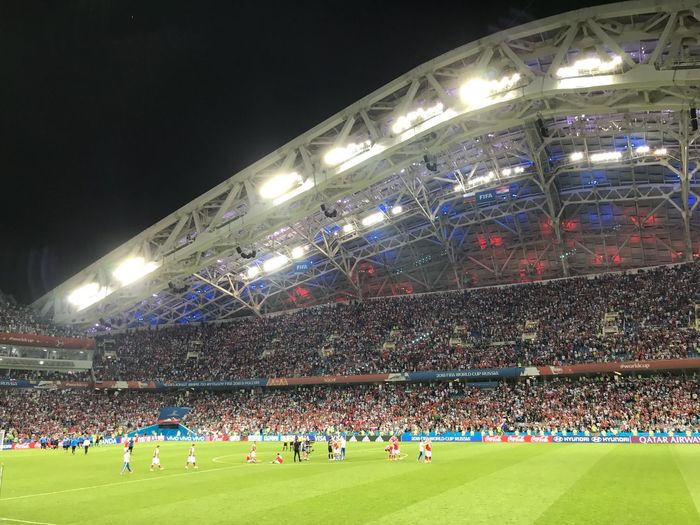 Disappointed FIFA World Cup Russia World Cup 2018 Sport Group Of People Night Stadium Crowd Lighting Equipment Illuminated Soccer Soccer Field Team Sport World Cup 2018
