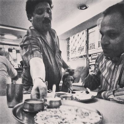 I love eating at these old school Udipi restaurants. Reminds of the days I used to go to these with my Grand dad... Somehow they seemed much more fun than what kids feel when they go to the KFCs and McDonald's of the world today... And these udipi places serve healthier food for sure! Incrediblecalcutta Nostalgia
