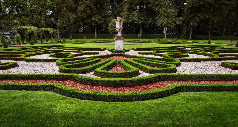 Decor in formal garden