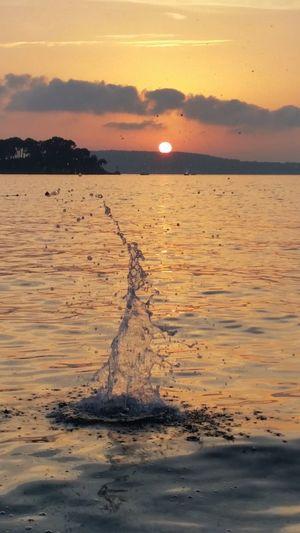 Sunset Sea Sun Beach Orange Color Beauty In Nature Dubrovnik, Croatia