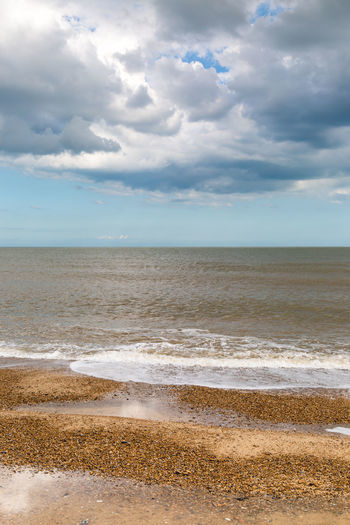 Clouds over the Sea Dramatic Sky Beach Beauty In Nature Cloud - Sky Coastal Coastal Landscape Day Horizon Over Water Landscape Nature No People Outdoors Pebbles Sand Scenics Sea Sky Southwold Suffolk Tranquil Scene Tranquility Vertical Water