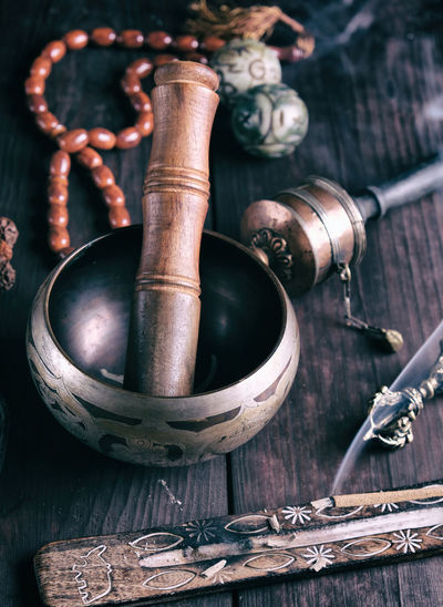 Singing Bowl Tibetan Buddhism Relaxing Meditation Bowl Tibetan  Yoga Smoke - Physical Structure