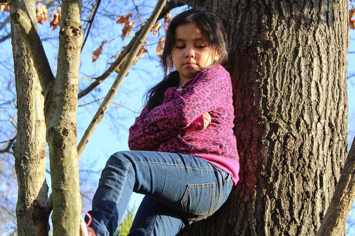 When you don't want to come down from the tree because you have to go inside 😄 Taking Photos Fresh On Eyeem  Kids Being Kids Kids Kids Will Be Kids Candid Candid Photography Candidshot Candid Sneak Shot Learning LearningEveryday Learning Photography LearningPhotography