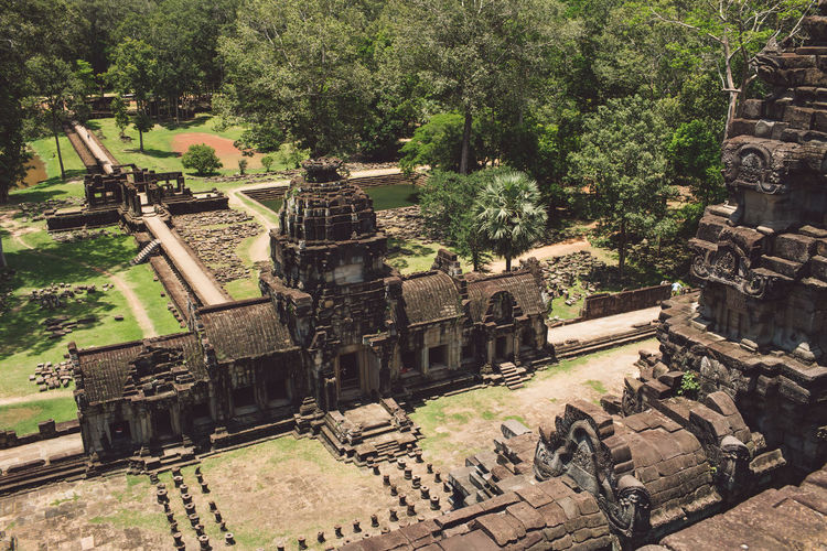 Siem Reap Cambodia Angkor History The Past Tree Built Structure Architecture Ancient Nature Old Ruin No People Day Plant Ancient Civilization Old Outdoors High Angle View Travel Travel Destinations Tourism Sunlight Building Exterior Ruined Archaeology