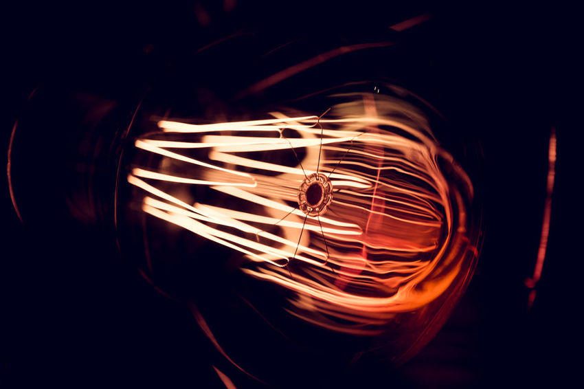 Abstract Photography Close Up Technology Edison Bulb Light Abstract Abstractart Close Up Close-up Darkness And Light Electric Lamp Electric Light Electricity  Energy Light And Shadow Light Bulb No People Selective Focus Technology