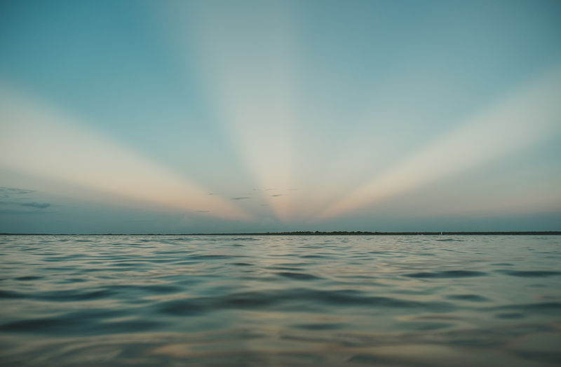 Bacalar Mexico Sunlight Cloud - Sky Horizon Over Water Idyllic Nature No People Outdoors Sea Sunset Tranquility Water