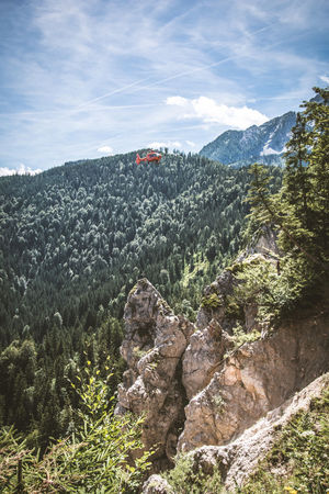 Bergwacht Helicopter Helirescue Mountain Mountain Range Mountainrescue Transportation Transportation People Valley