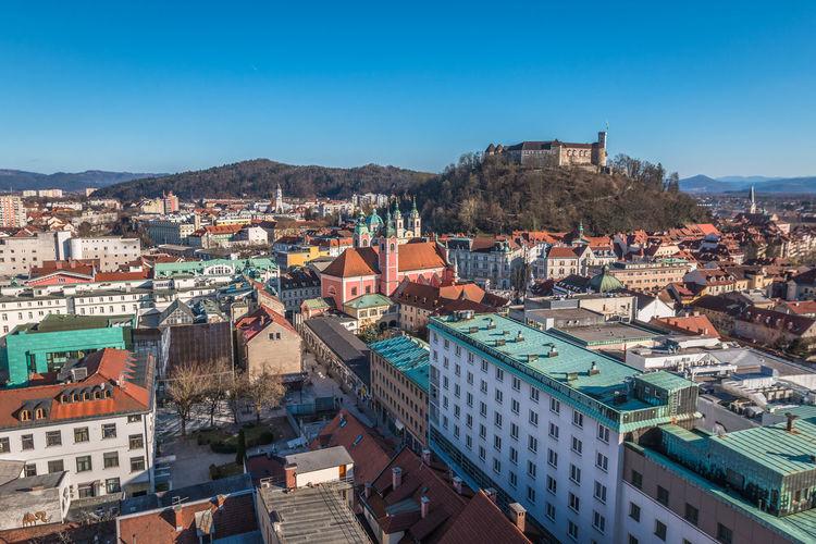 Ljubjana city old Ljubljana