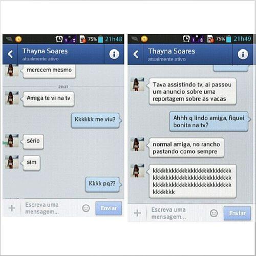 aaaaain minha amiga sempre me prestigiando hahaha Idiotas Babacas Bobonas Felizes amiga