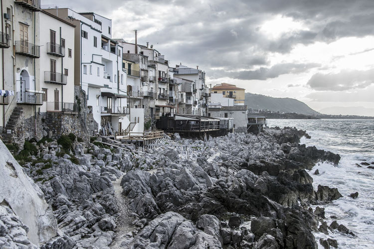 Cefalù - Palermo (Sicily - Italy) Cliffs Palermo Sicilia Sicily Beach Cefalu  Cliff Cliffside Cloud - Sky Italy Nature Outdoors Sea Sky Water Waterfront