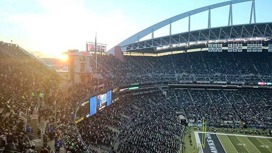 Sunset from last Sunday... Stadium Football NFL NFL Football Centurylinkfield Sunset Been There.