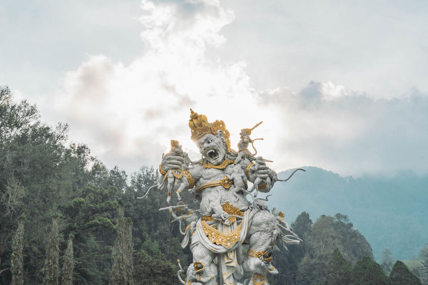 Hindu god in bali Bali Bali, Indonesia Hindu Hindu Gods Hinduism Art And Craft Cloud - Sky Day Hindu Temple Human Representation Low Angle View Male Likeness Nature No People Outdoors Religion Sculpture Sky Spirituality Statue