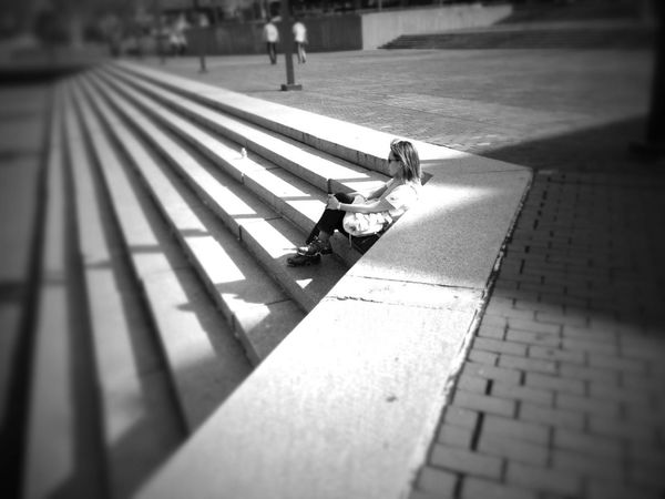 People Watching Streetphotography Blackandwhite Streetphoto_bw