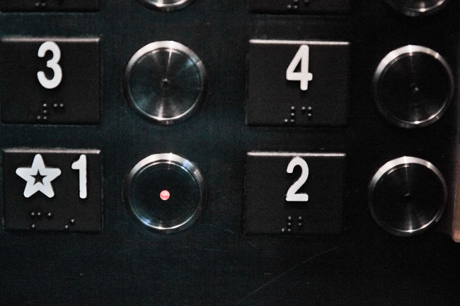 Buttons Close Up Elevator Ground Floor Grungy Metal No People Number Numbers Spooky Technology Urban