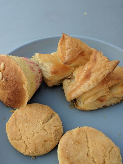 EyeEmNewHere Bread Blue Close-up Food And Drink Baked Starter Baked Pastry Item