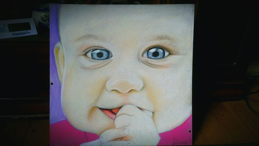 Baby Amazing ArtWork Realistic Drawing Paint Eyes Drawing Cute