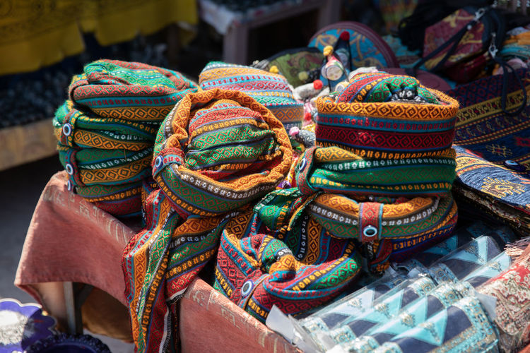 Close-up of multi colored for sale in market
