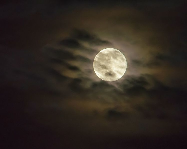 """""""Shrouded in Obscurity"""" - The colorful cloud layer over the moon made for an eerie yet breathtaking moment. 🌙 Moon Moonlight Clouds Night Photography Sky_collection Nightsky Nature Clouds And Sky Skyporn Cloud_collection"""