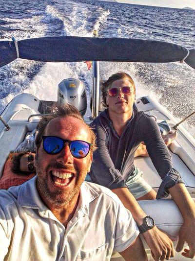 Papà e i suoi selfie... Sole Mare Sole