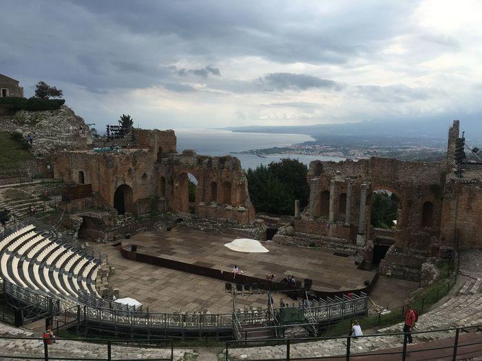 Architecture History Amphitheater Taormina