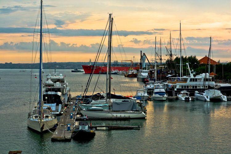 MARINE TOURISM Tanjungbenoa Transportation Mode Of Transportation Sea Cloud - Sky Sunset Travel Outdoors Yacht Sailboat