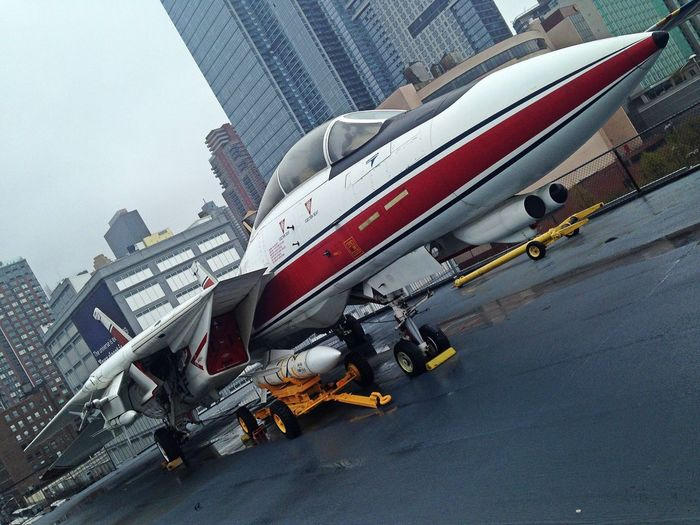 Grumman F-14 Tomcat at the Intrepid Sea-Air-Space Museum New York City , United States ✨ Top Gun Transportation Outdoors Airforce Military Military Airplane Military Life Airplane Fly No People Sky Day NYC Intrepid