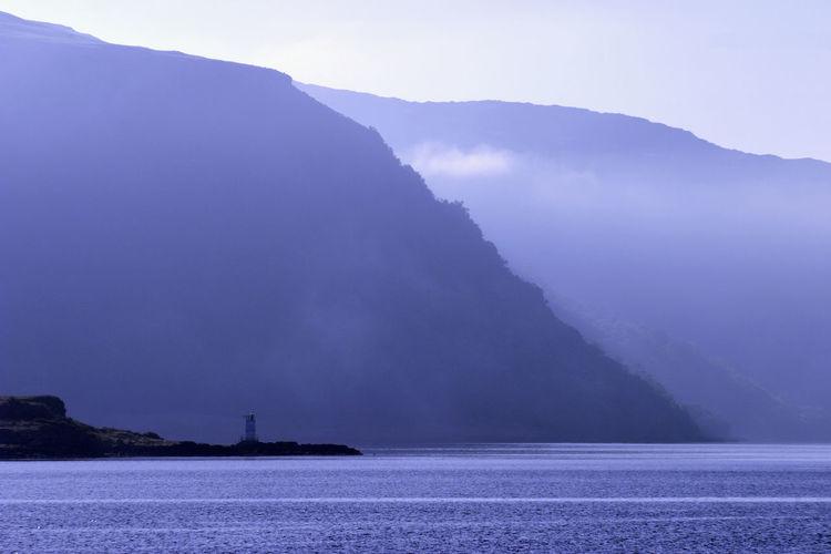 Sunrise over the sound of mull, scotland.