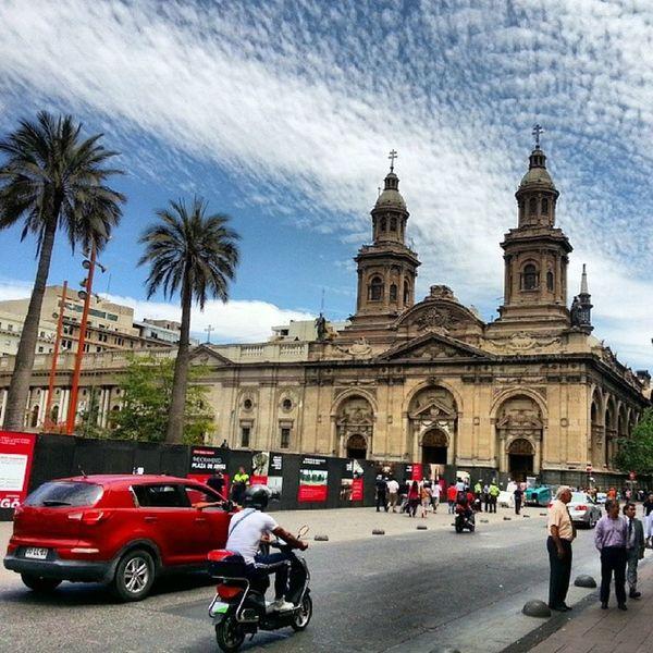 Plaza de armas en remodelacion Santiagodechile Santiago Chile Travel trip plaza monumento instagood