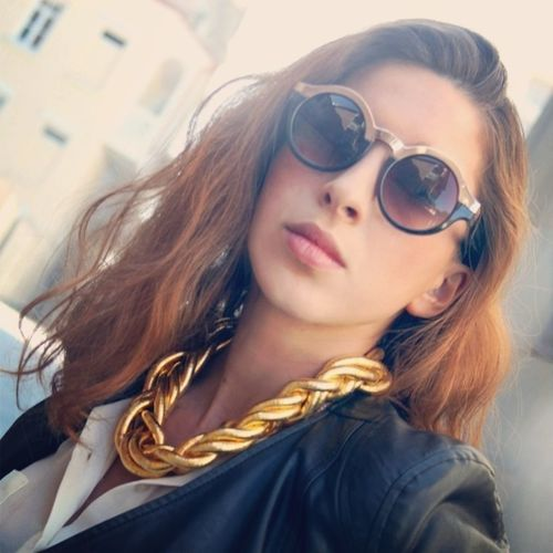 Street Style Sunglasses Necklace Accessories