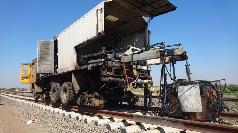 Industry Transportation Metal Industry Welding Work Railroad Mobile Flashbutt Welding Plant